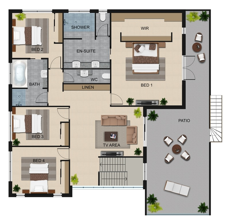Forest house floorplan 4