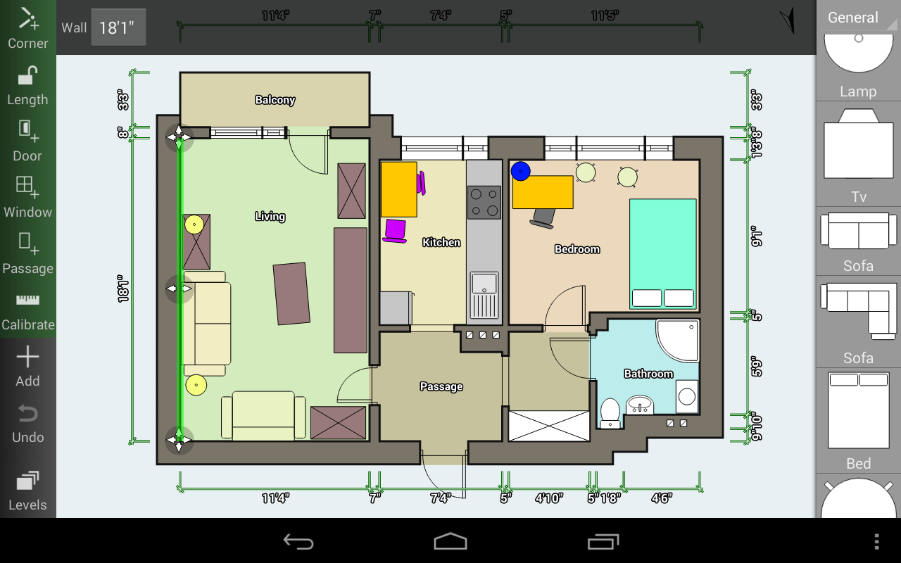 Four Walls floorplan