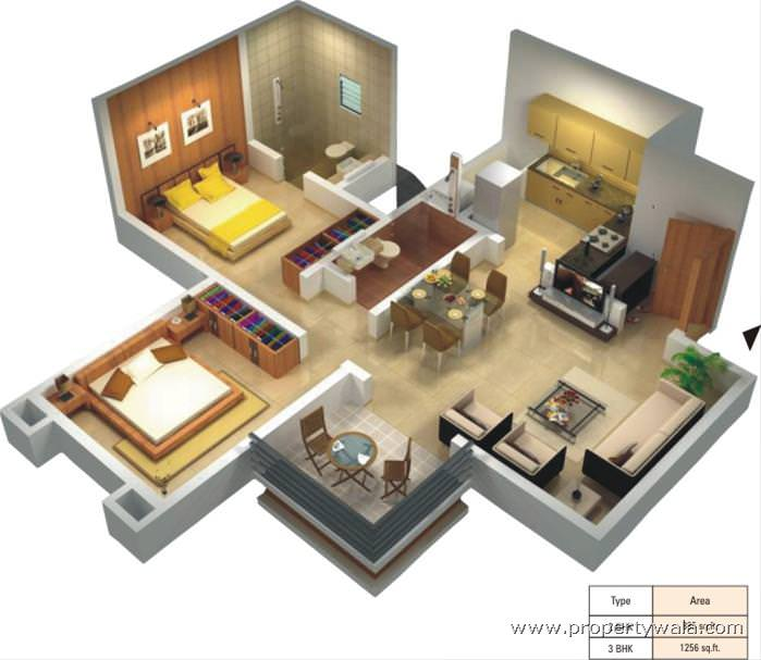 High Corner floorplan 3