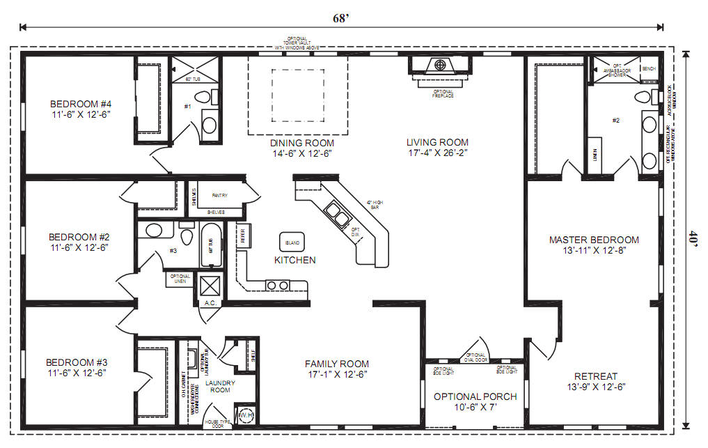 The Hilton floorplan