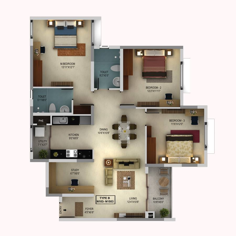 Morning Star floorplan 4