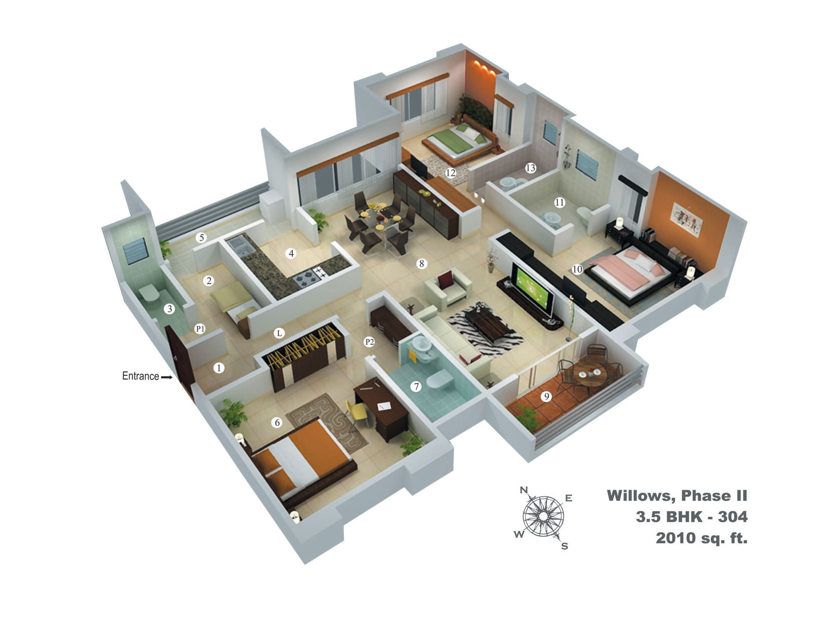 Pretty Villa House floorplan 3