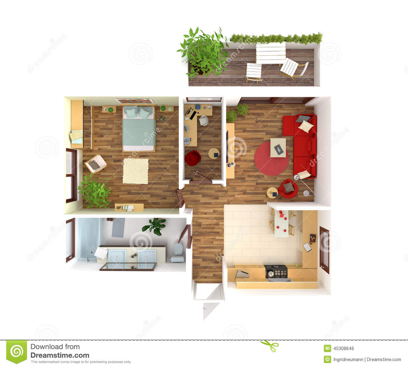Nurse's Cottage floorplan 4