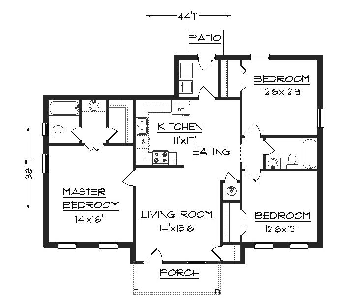The Hut floorplan 3