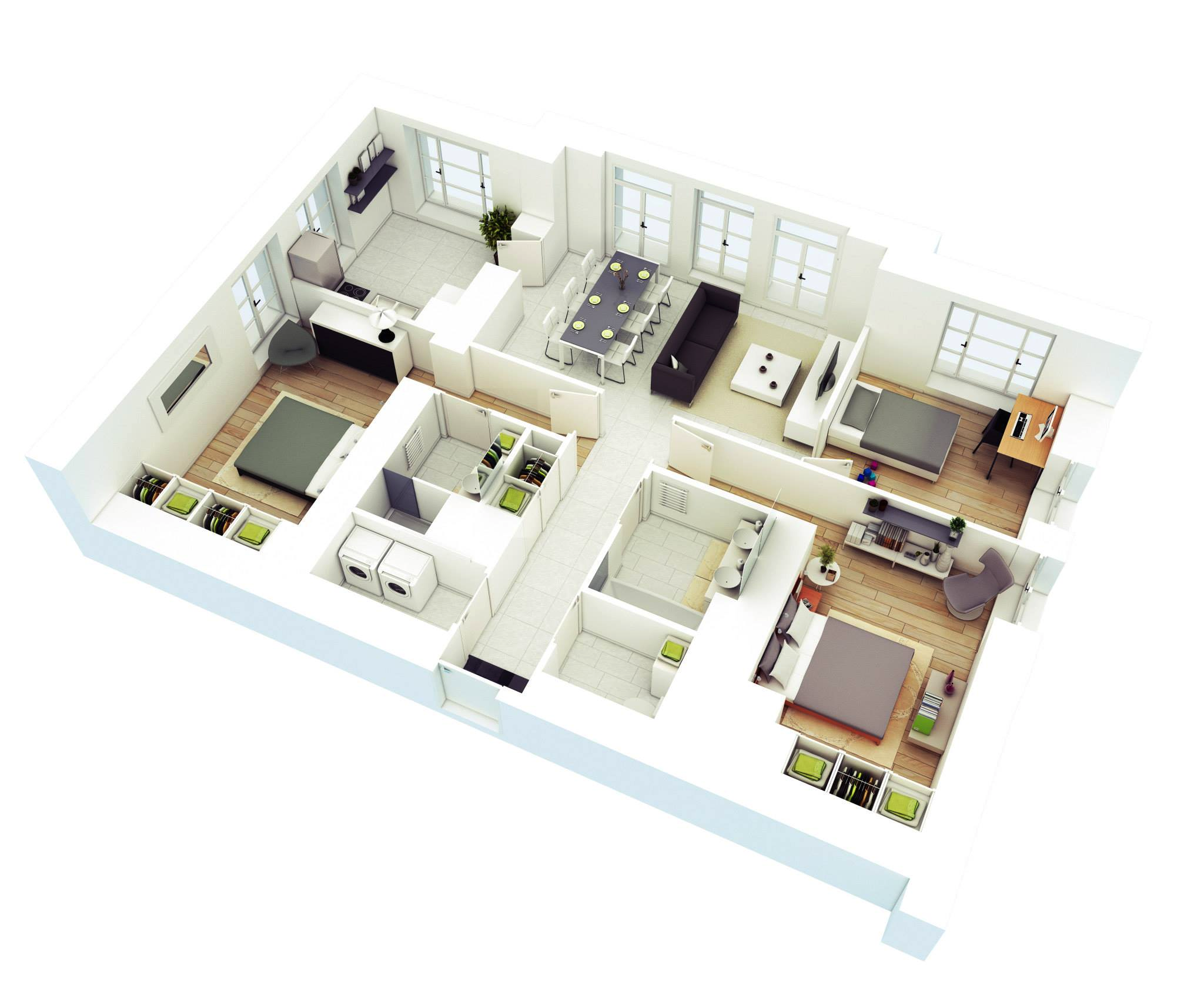High Corner floorplan